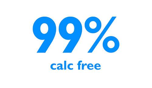 Rimozione del 99% del calcare* dall'acqua del tuo ferro da stiro