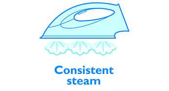 Ensures consistent steam flow from your iron