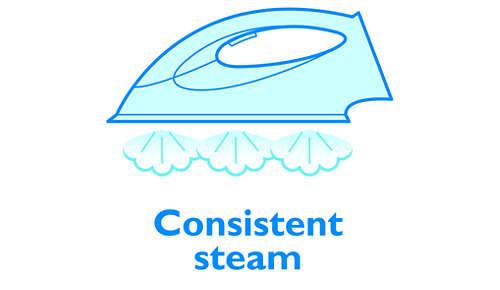 Garantisce un flusso di vapore costante dal ferro