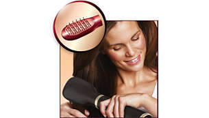 Paddle straightening brush for naturally straight looks
