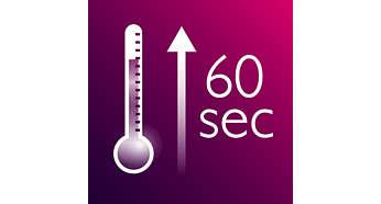 Бързо загряване, готовност за ползване след 60 секунди