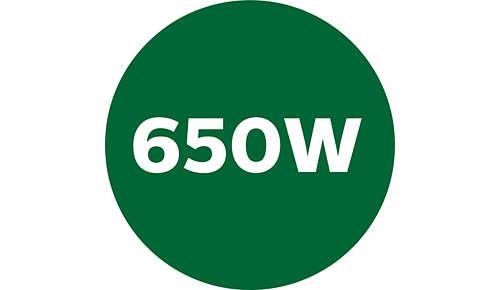 650-Watt-Motor für leistungsstarke Verarbeitung