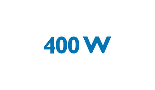 Voimakas 400 W:n moottori