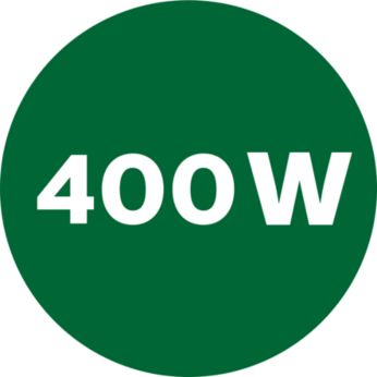 Strong 400 W motor