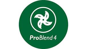 ProBlend 4 瓣式刀片高效搅拌和混合