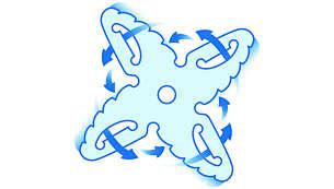 4-sakarainen ProBlend-terä sekoittaa ja vatkaa tehokkaasti