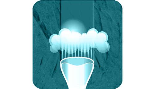 Vapore continuo automatico rilasciato dalla pompa elettrica