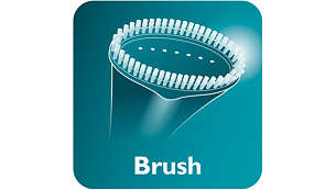 Brush accessory for a smooth finish