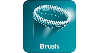 Acessório de escova para um acabamento perfeito