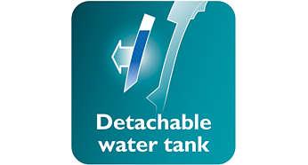 Irrotettava vesisäiliö helpottaa täyttöä