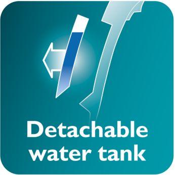 Odłączany zbiornik wody ułatwia napełnianie