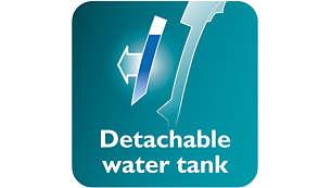 Afneembaar waterreservoir voor eenvoudiger bijvullen