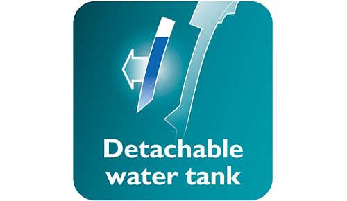 Aftagelig vandtank for nemmere påfyldning