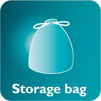 Specjalna torba ułatwia przechowywanie