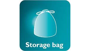 Ainutlaatuinen säilytyslaukku helpottaa säilytystä