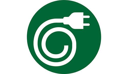 Integrert oppbevaring av strømledningen