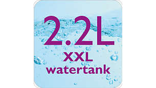 Large 2.2l fully visible water tank