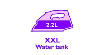 Großer 2,2l sichtbarer Wassertank