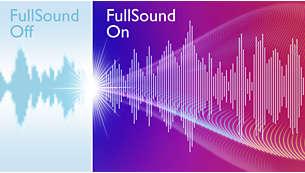 Технология FullSound для естественного звучания музыки на планшетном ПК