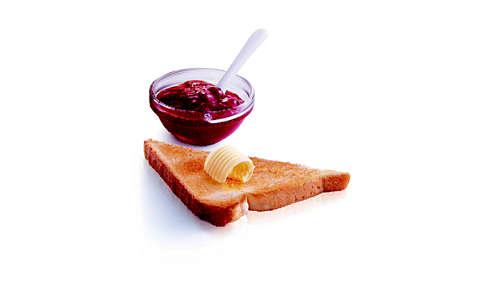 med återuppvärmning kan du värma brödet på några sekunder