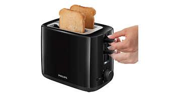 Liftfunctie om eenvoudig kleine sneetjes brood te verwijderen