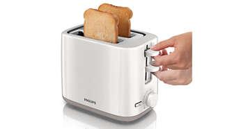 Високо повдигане за лесно изваждане на малки парчета хляб