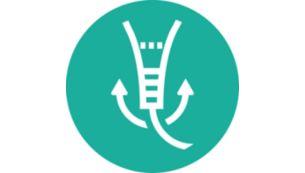 Шарнир предотвращает спутывание шнура