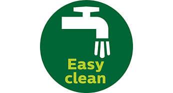 Eenvoudig schoon te maken door verwijderbaar mes