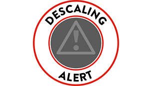 Descaling alarm for longer product lifetime
