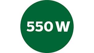 Potência de 550W
