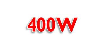 Motor potente de 400W com o qual é possível preparar até mesmo massas de pães