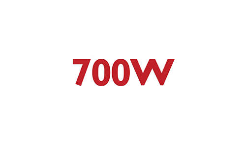 Kraftig 700 W motor