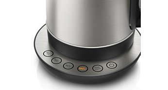 4 forudindstillede knapper til valg af din foretrukne varme drik