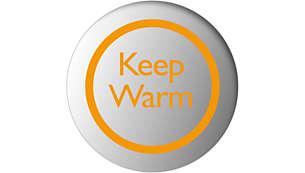 Šilumos išlaikymo funkcija palaikoma nustatyta vandens temperatūra
