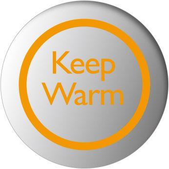 Функцията за запазване на топлината поддържа зададената температура на водата