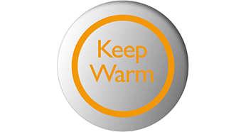 Hold varm-funksjonen holder vannet på den temperaturen du har angitt
