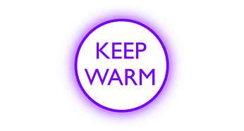 Funkcia udržania teploty udržuje vodu teplú podľa Vami nastavenej teploty