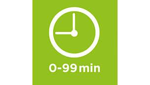 Timer tot 99 minuten, met' klaar voor gebruik'-signaal