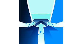 Aerodynamische Düse für bessere Staubaufnahme
