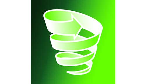 Cyclonische stofzuiger zonder zak met 2 fasen voor een optimale filtering