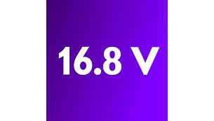 強力 16.8V 電池,確保強大吸力