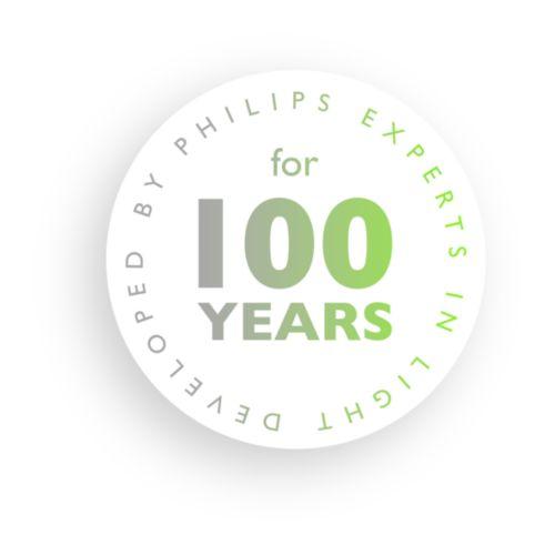 Desarrollada por Philips, expertos en iluminación durante más de 100años.