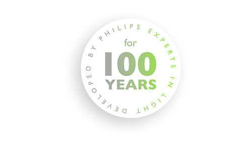 Developed by Philips, experts in light for over 100 years.
