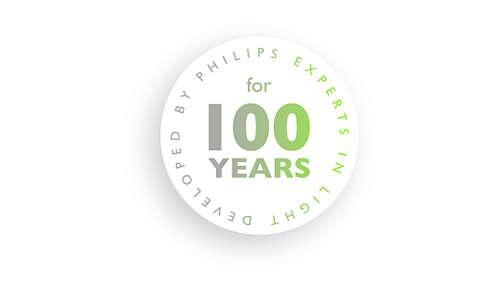 Utviklet av Philips, belysningseksperter i over 100år.