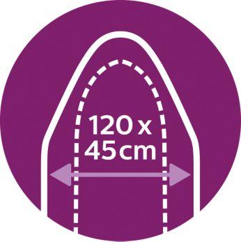 Parfait pour les tables Easy8: 120x45cm