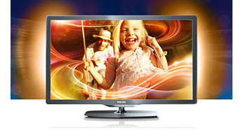 O Ambilight na lateral da TV intensifica ainda mais a qualidade de exibição