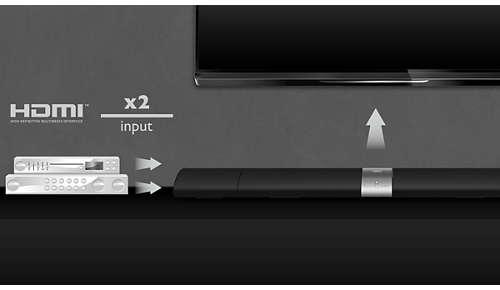 Aansluiten op HDMI x 2 voor geweldige beeld- en geluidskwaliteit