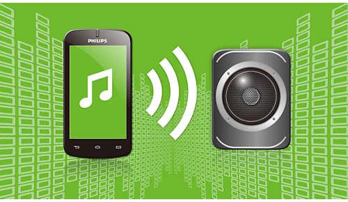 Trådlös musikströmning via Bluetooth