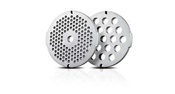2 higieniški nerūdijančiojo plieno malimo diskai (5, 8 mm)