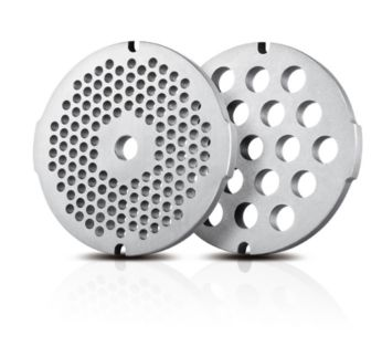 2 hygienic stainless steel grinding discs (5, 8 mm)